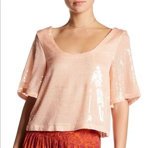 NWT Free People | Pearl Sequin Top